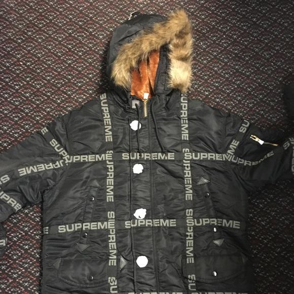 2b125330 Supreme Jackets & Coats | N3b Logo Tape Jacket | Poshmark